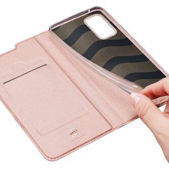 Samsung A52 kunstnahast kaaned kaarditaskuga DUX DUCIS Skin Pro roosa 6
