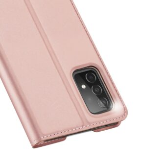 Samsung A52 kunstnahast kaaned kaarditaskuga DUX DUCIS Skin Pro roosa 7