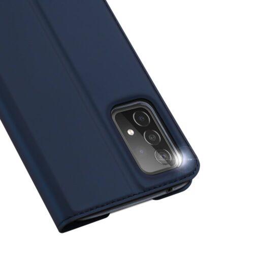 Samsung A52 kunstnahast kaaned kaarditaskuga DUX DUCIS Skin Pro sinine 1