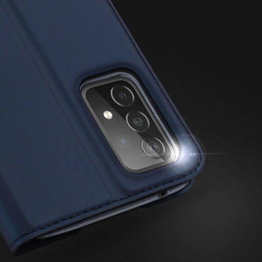Samsung A52 kunstnahast kaaned kaarditaskuga DUX DUCIS Skin Pro sinine 10