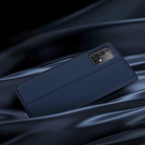 Samsung A52 kunstnahast kaaned kaarditaskuga DUX DUCIS Skin Pro sinine 11