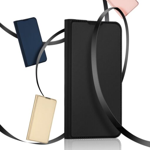Samsung A52 kunstnahast kaaned kaarditaskuga DUX DUCIS Skin Pro sinine 12