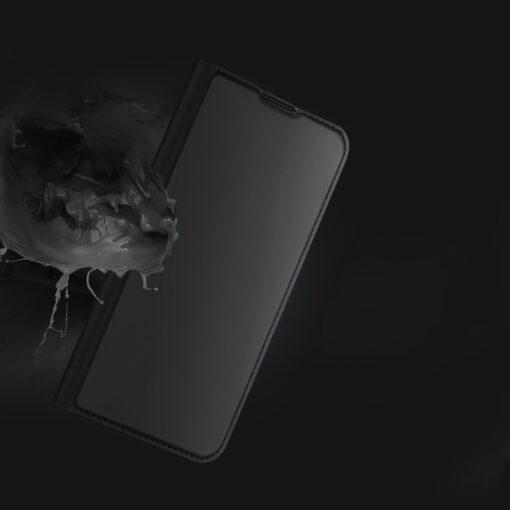 Samsung A52 kunstnahast kaaned kaarditaskuga DUX DUCIS Skin Pro sinine 13