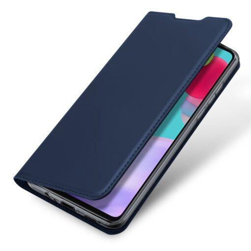Samsung A52 kunstnahast kaaned kaarditaskuga DUX DUCIS Skin Pro sinine 2
