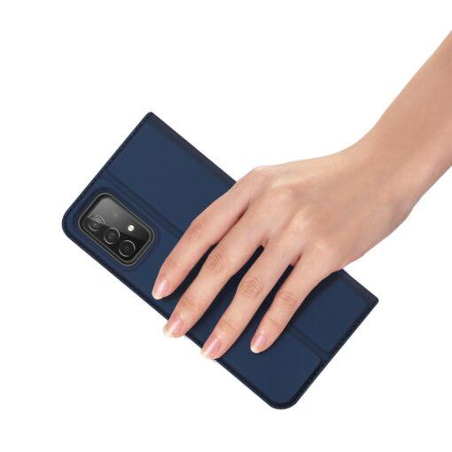 Samsung A52 kunstnahast kaaned kaarditaskuga DUX DUCIS Skin Pro sinine 5
