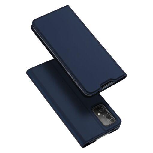 Samsung A52 kunstnahast kaaned kaarditaskuga DUX DUCIS Skin Pro sinine