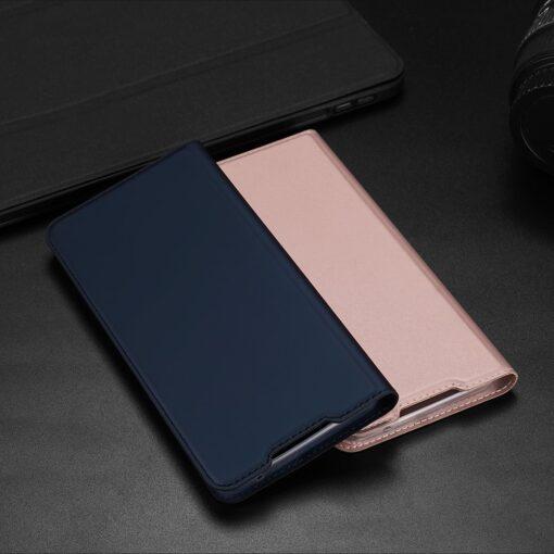 Samsung A52 kunstnahast kaaned kaarditaskuga DUX DUCIS Skin Pro sinine 9
