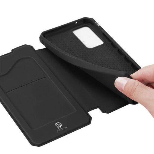 Samsung A52 kunstnahast kaaned kaarditaskuga DUX DUCIS Skin X must 6