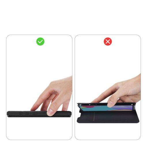 Samsung A52 kunstnahast kaaned kaarditaskuga DUX DUCIS Skin X must 8