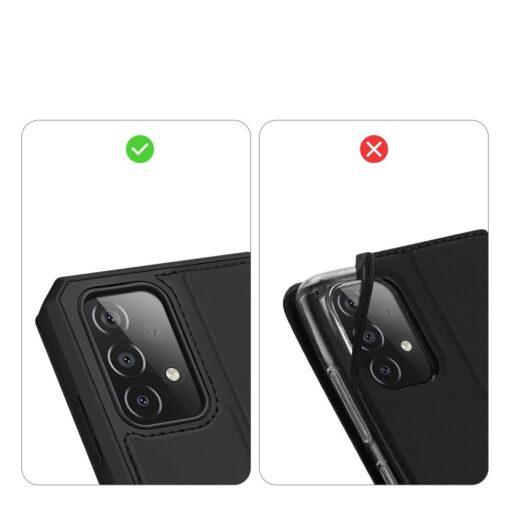 Samsung A52 kunstnahast kaaned kaarditaskuga DUX DUCIS Skin X must 9