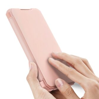 Samsung A52 kunstnahast kaaned kaarditaskuga DUX DUCIS Skin X roosa 1
