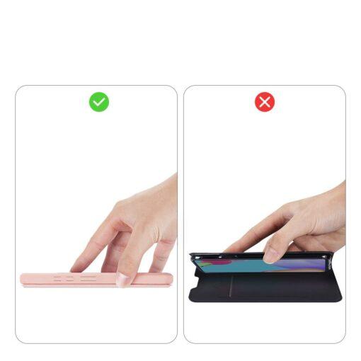 Samsung A52 kunstnahast kaaned kaarditaskuga DUX DUCIS Skin X roosa 10