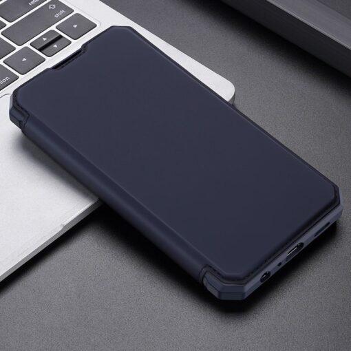 Samsung A52 kunstnahast kaaned kaarditaskuga DUX DUCIS Skin X sinine 12