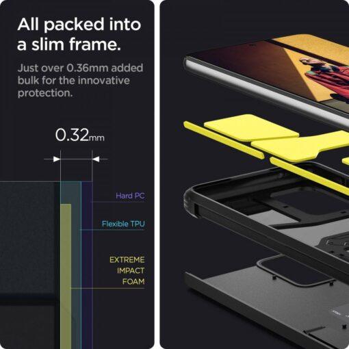 Samsung A52 umbris Galaxy Spigen Tough Armor must 3