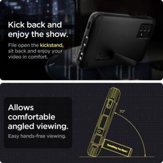 Samsung A52 umbris Galaxy Spigen Tough Armor must 5