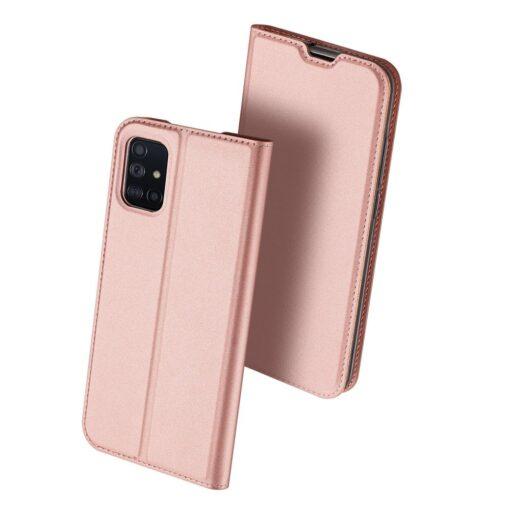 Samsung A71 kunstnahast kaaned kaarditaskuga DUX DUCIS Skin Pro roosa 1