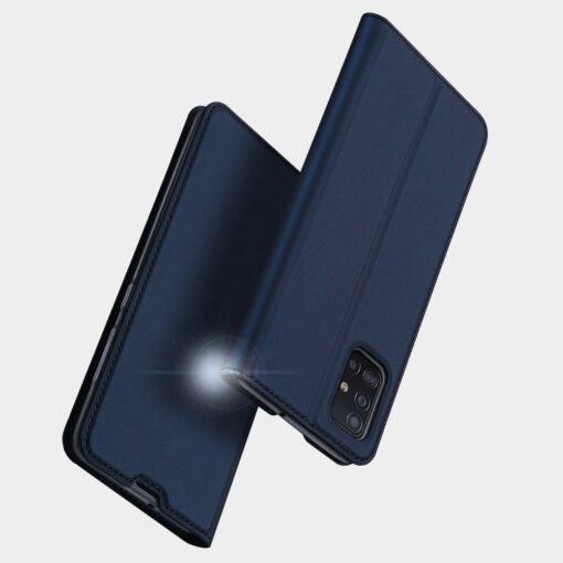 Samsung A71 kunstnahast kaaned kaarditaskuga DUX DUCIS Skin Pro roosa 10