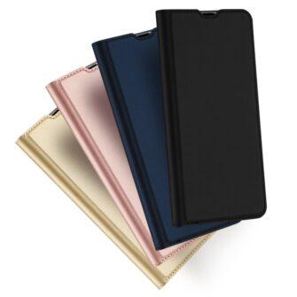 Samsung A71 kunstnahast kaaned kaarditaskuga DUX DUCIS Skin Pro roosa 11