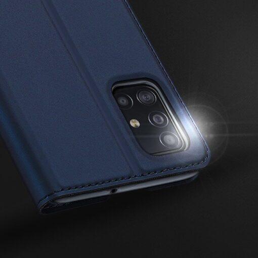 Samsung A71 kunstnahast kaaned kaarditaskuga DUX DUCIS Skin Pro roosa 12