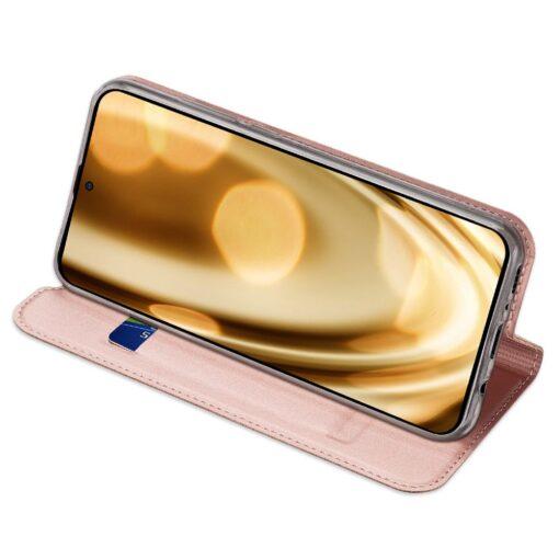 Samsung A71 kunstnahast kaaned kaarditaskuga DUX DUCIS Skin Pro roosa 15