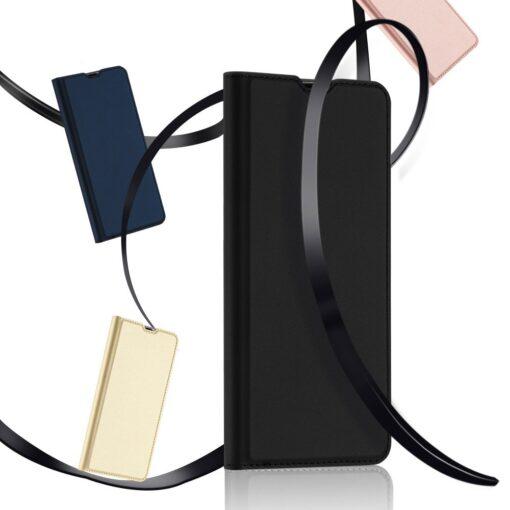 Samsung A71 kunstnahast kaaned kaarditaskuga DUX DUCIS Skin Pro roosa 16