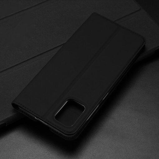 Samsung A71 kunstnahast kaaned kaarditaskuga DUX DUCIS Skin Pro roosa 17