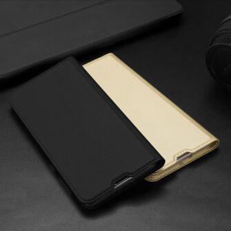 Samsung A71 kunstnahast kaaned kaarditaskuga DUX DUCIS Skin Pro roosa 18