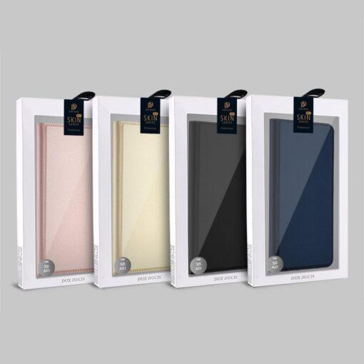 Samsung A71 kunstnahast kaaned kaarditaskuga DUX DUCIS Skin Pro roosa 21