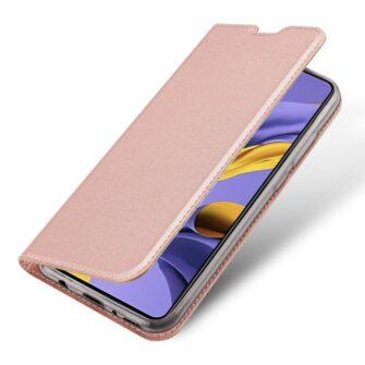 Samsung A71 kunstnahast kaaned kaarditaskuga DUX DUCIS Skin Pro roosa 3
