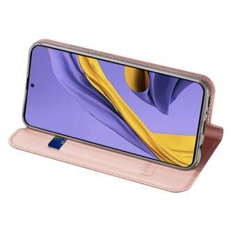 Samsung A71 kunstnahast kaaned kaarditaskuga DUX DUCIS Skin Pro roosa 4