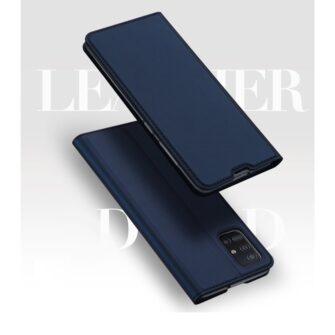 Samsung A71 kunstnahast kaaned kaarditaskuga DUX DUCIS Skin Pro roosa 5