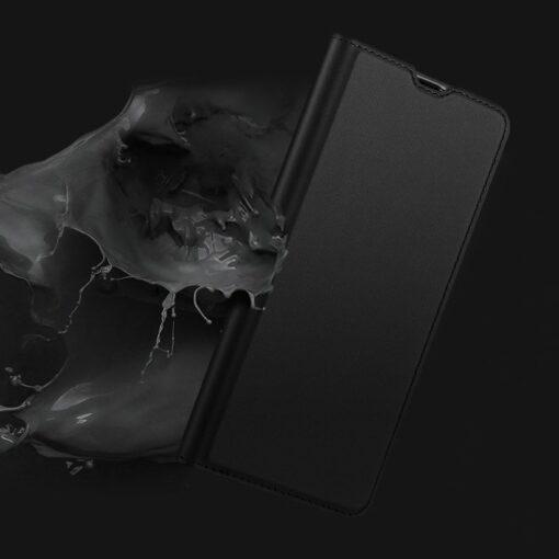 Samsung A71 kunstnahast kaaned kaarditaskuga DUX DUCIS Skin Pro roosa 8