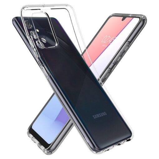 Samsung A72 Galaxy umbris Spigen Crystal Clear labipaistev 4