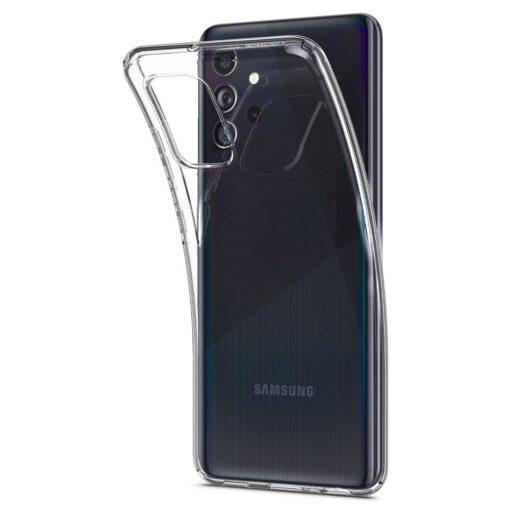 Samsung A72 Galaxy umbris Spigen Crystal Clear labipaistev 5
