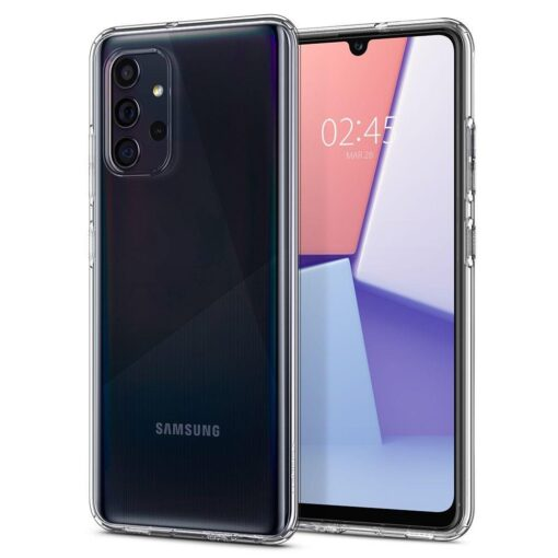 Samsung A72 Galaxy umbris Spigen Crystal Clear labipaistev
