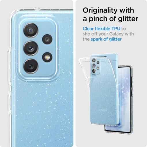 Samsung A72 Galaxy umbris Spigen Liquid Crystal Glitter Crystal 4