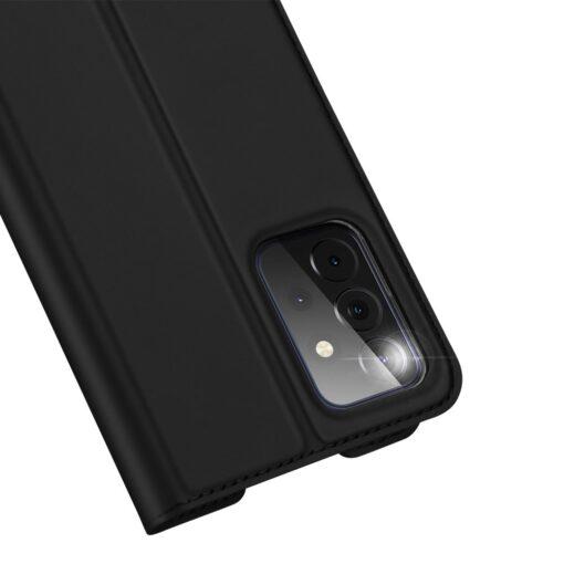 Samsung A72 kunstnahast kaaned kaarditaskuga DUX DUCIS Skin Pro must 1