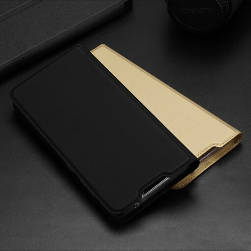 Samsung A72 kunstnahast kaaned kaarditaskuga DUX DUCIS Skin Pro must 10