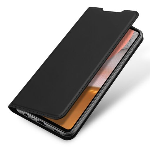 Samsung A72 kunstnahast kaaned kaarditaskuga DUX DUCIS Skin Pro must 2