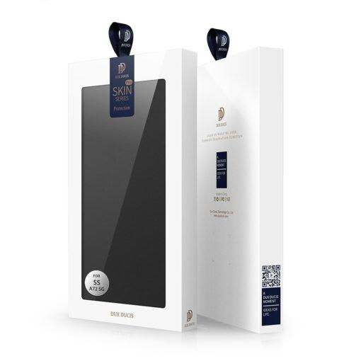 Samsung A72 kunstnahast kaaned kaarditaskuga DUX DUCIS Skin Pro must 3