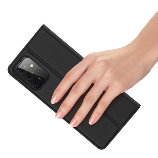Samsung A72 kunstnahast kaaned kaarditaskuga DUX DUCIS Skin Pro must 5