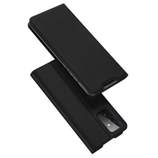Samsung A72 kunstnahast kaaned kaarditaskuga DUX DUCIS Skin Pro must