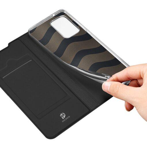 Samsung A72 kunstnahast kaaned kaarditaskuga DUX DUCIS Skin Pro must 7