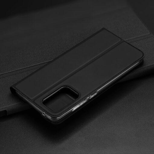 Samsung A72 kunstnahast kaaned kaarditaskuga DUX DUCIS Skin Pro must 9