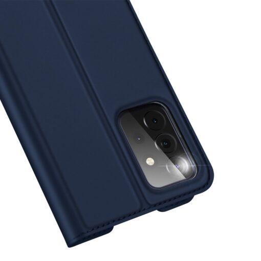 Samsung A72 kunstnahast kaaned kaarditaskuga DUX DUCIS Skin Pro sinine 1