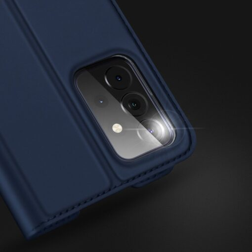 Samsung A72 kunstnahast kaaned kaarditaskuga DUX DUCIS Skin Pro sinine 10