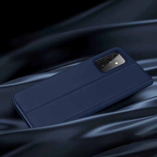 Samsung A72 kunstnahast kaaned kaarditaskuga DUX DUCIS Skin Pro sinine 11