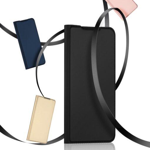 Samsung A72 kunstnahast kaaned kaarditaskuga DUX DUCIS Skin Pro sinine 12