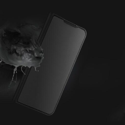 Samsung A72 kunstnahast kaaned kaarditaskuga DUX DUCIS Skin Pro sinine 13