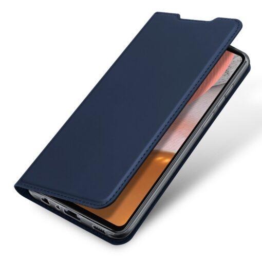 Samsung A72 kunstnahast kaaned kaarditaskuga DUX DUCIS Skin Pro sinine 2